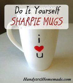 How To Make Sharpie Mugs DIY   Handy & Homemade