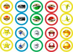 Mario Kart cupcake toppers - free printable