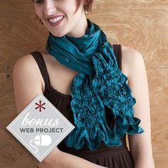Free Sewing Pattern: Waterfall Scarf - Sew Daily