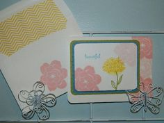 Simple Stems, Stampin' UP, card making Hi everyone! This clean and simple style is cheerful and inviting. Just like spring! Happy Crafting!~ Dee