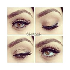 natural satin eye makeup Natural Eye Makeup for Brown and Blue Eyes |... ❤ liked on Polyvore featuring beauty products