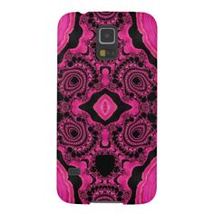 Gorgeous Pink/Black Fractal Samsung Galaxy5/5 case Case For Galaxy S5