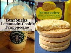 Lemonades Cookie Frappuccino- •Lemonade to the first line •Milk to second line •Add White Mocha Syrup (2 pumps for tall, 3 grande, 4 venti) •Add Hazelnut Syrup (1 pump tall and grande, 2 venti) •Add Cream base (no coffee) •Top with whipped cream and if desired, put vanilla drizzle on top