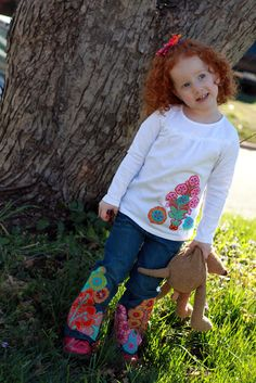 adorable applique project to spruce up clothes