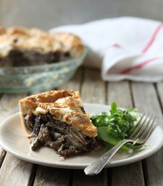 Wild Mushroom Pie With Parmesan Crust.