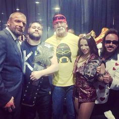 Triple H, Kevin Owens, Hulk Hogan, Sasha Banks and Jimmy Hart