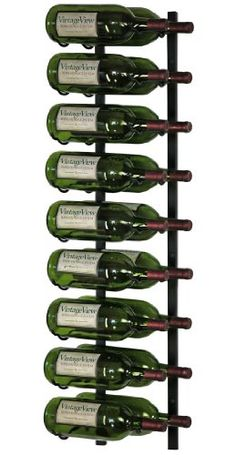 Best Wine Rack | VintageView 18 Bottle Wall Mounted Metal Hanging Magnum Wine Rack 2 Deep  Black * Want to know more, click on the image. Note:It is Affiliate Link to Amazon.
