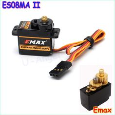 100% orginal 한 1 개 emax es08maii 12 그램/1.8 키로그램 미니 금속 기어 고속 9 그램 서보 업그레이드 es08ma