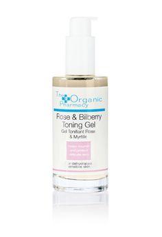 organic rose and bilberry toning gel