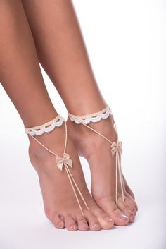 Check out this item in my Etsy shop https://www.etsy.com/listing/245139478/beach-wedding-barefoot-sandals-foot