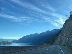 En route to Whistler. Morning capture of the sea-to-sky road.