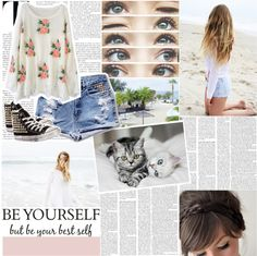 """""""Be yourself, but be your best self . ♥"""" by heyyitskim ❤ liked on Polyvore"""