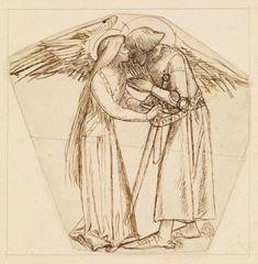 Sir Galahad Armed by an Angel by Arthur Hughes