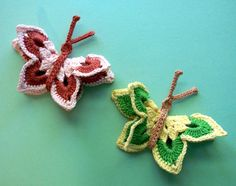 Hand Crocheted 3-Dimensional Butterflies for by PetalsnMore