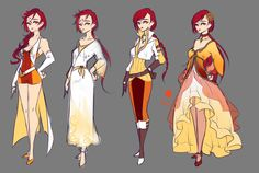 Phoena Alternate Outfits by rika-dono.deviantart.com on @DeviantArt
