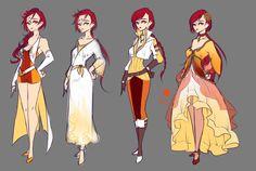 Phoena Alternate Outfits by rika-dono.deviantart.com on @DeviantArt