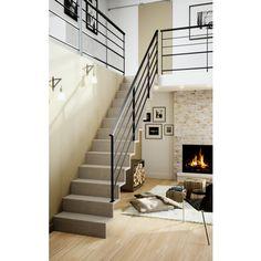 L'escalier droit Jazz sans nez de marche allie l'authenticité du matériau à…