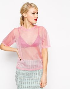 This top is perfect for ace-ing the Solar Pop trend; sci fi, lots of pink contrasted with some grunge!