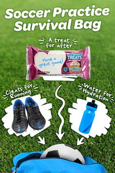 Throw NEW Birthday Cake Rice Krispies Treats into your kid's bag for soccer practice. The perfect post-drill snack… even though it's just practice, it'll taste like victory.