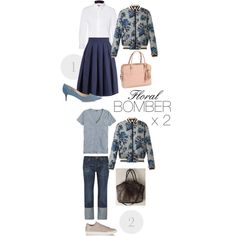 Spring & summer outfit idea for women over 40. Over 40 fashion. Inspiration for stylish women over 40. Featuring floral bomber jacket.