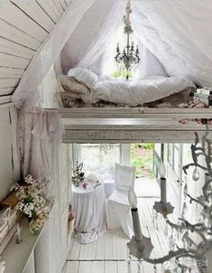 Fairytale cottage loft bed