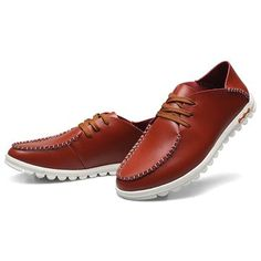US Size 6.5-11.5 Men Breathable Soft Sole Round Toe Flats Casual Shoes - US$34.59