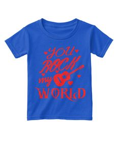 Discover You Are Rock My World T-Shirt, a custom product made just for you by Teespring. With world-class production and customer support, your satisfaction is guaranteed. Twitch Hoodie, Love T Shirt, Order Prints, My World, Valentine Gifts, Anniversary Gifts, Just For You, Rock, Sweatshirts