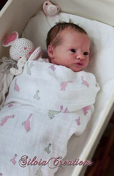 *SILVIACREATIONS* Realborn(R) Presley Awake, Bountiful Baby Reborn - Prototype#2