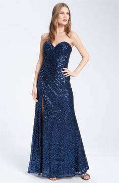 La Femme Strapless Sequin Gown   Nordstrom    Anything that shines