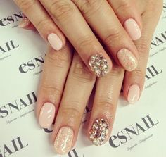 Prom Nails: 15 Ideas For Your Perfect Manicure | Glitz nails for prom | Sparkle nails