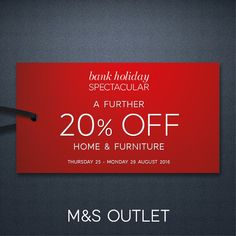 Our M&S Outlet has three fantastic deals for you and they're available for this weekend only!