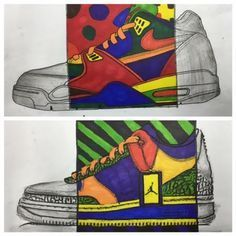 The Shoe Drawing -8th grade