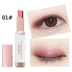 Stereo Gradient Double Color Shimmer Eyeshadow Stick Earth Color Eye Shadow Cream Pen Palette Cosmetics Makeup Hot Sale