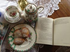 Tea, dainty biscuits and a good book. Can make a bad day good :)