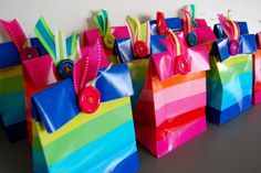 Lalaloopsy Party Favors | The striped party favor bags are from the Spritz party supply line at ...