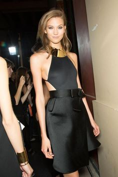labellefabuleuse:  Karlie Kloss backstage at Lanvin, Spring 2013