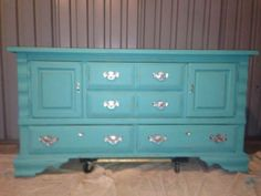 Shabby Chic Turquoise Dresser