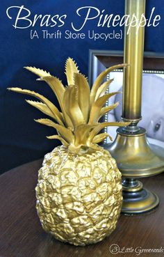 DIY Brass Pineapple