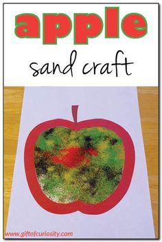 Apple sand craft || Gift of Curiosity