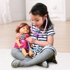 Your little one can pretend to be a doctor with the Baby Amaze™ Happy Healing Doll™! Interactive Baby Dolls, Vtech Baby, Medicine Bottles, Whats New, Doll Toys, Your Child, Healing, Children, Happy