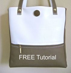 FREE bag pattern and step by step tutorial for how to sew this perfect tote purse. Lots of tips and tricks for how to sew with vinyl, so you can sew up the ideal tote bag from this free sewing pattern. Bag Patterns To Sew, Sewing Patterns Free, Free Sewing, Sewing Projects For Beginners, Sewing Tutorials, Sewing Hacks, Sewing Tips, Bag Tutorials, Eyebrows