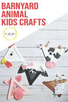 Farm Animals Preschool, Animal Activities For Kids, Farm Animal Crafts, Pig Crafts, Sheep Crafts, Animal Crafts For Kids, Daycare Crafts, Preschool Camping Crafts, Art Activities For Kindergarten