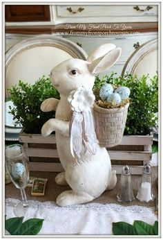 French Farmhouse Easter Dining Room 2015