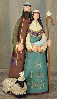 O'Holy Family Nativity Figurine – Christmas Folk Art & Holiday Collectibles – Williraye Studio $44.50