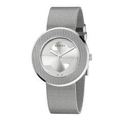 Gucci Women's YA129407 'U-Play' Medium Stainless Steel Mesh Watch