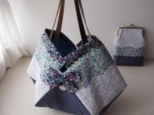 香港生活を始めて現地素材を使った手作り(ハンドメイド)の作品を作って楽しく生活するブログ 手作り作品・材料編-四角い布BAG花。interesting purse.
