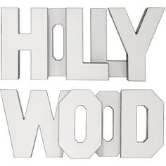 "Vintage ""Hollywood"" Letters - Set of 9 (€2.990) ❤ liked on Polyvore featuring home, home decor, wall art, novelty signs, photo wall art, photo sculpture, red wall art, quote wall art and word wall art"