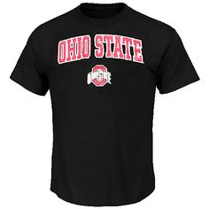 Ohio State Buckeyes Black Arched Short Sleeve T Shirt by J. America $19.95