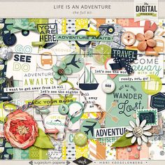 The Digital Press :: Digital Kits :: Life is an Adventure : Kit by Mari Koegelenberg and Sugarplum Paperie