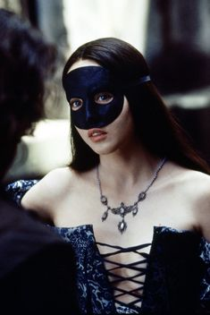 Reine Margot with a blue mask : wonderful and beautiful Isabelle Adjani